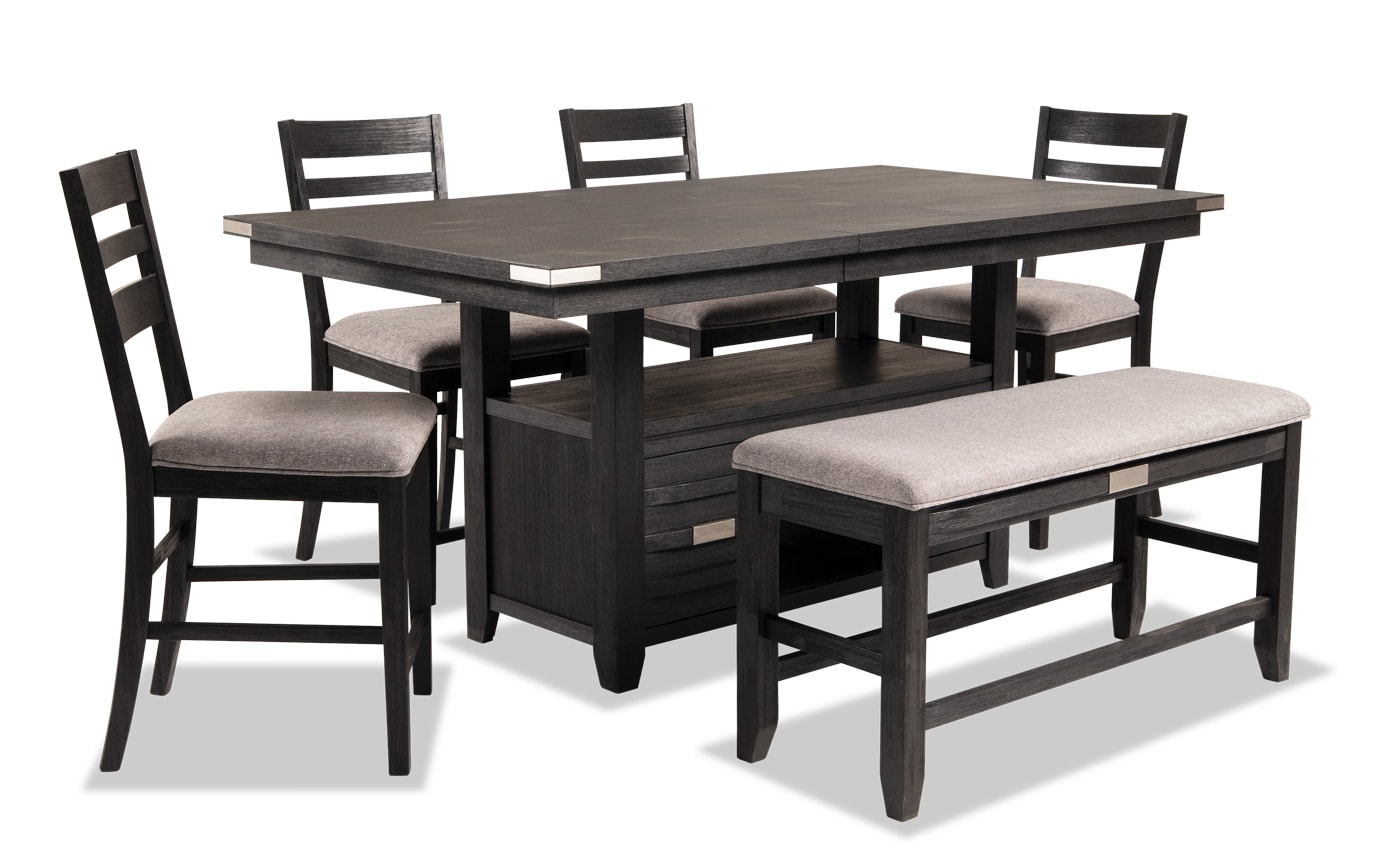 Elevations 6 Piece Counter Set with Storage Bench