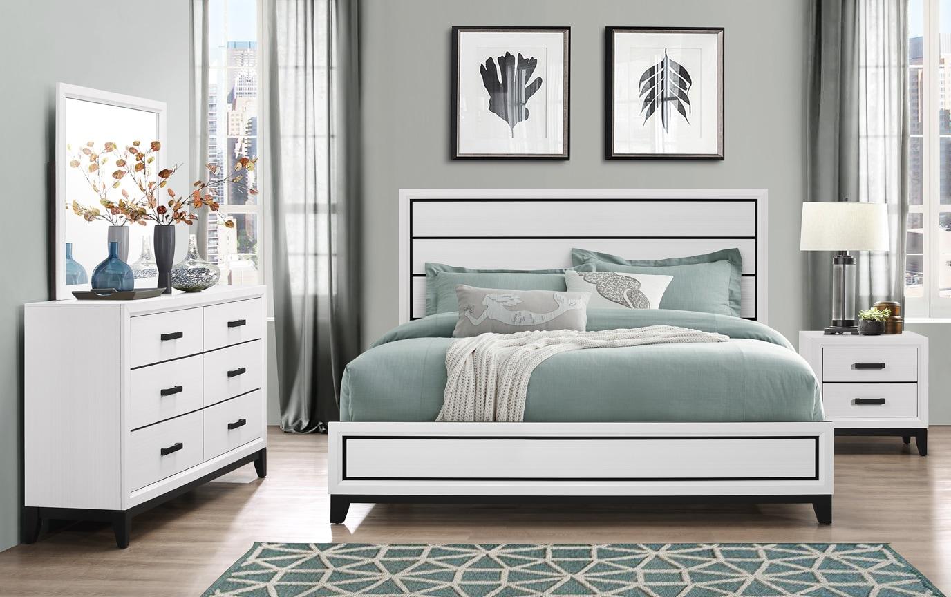 Joss Queen White Bedroom Set