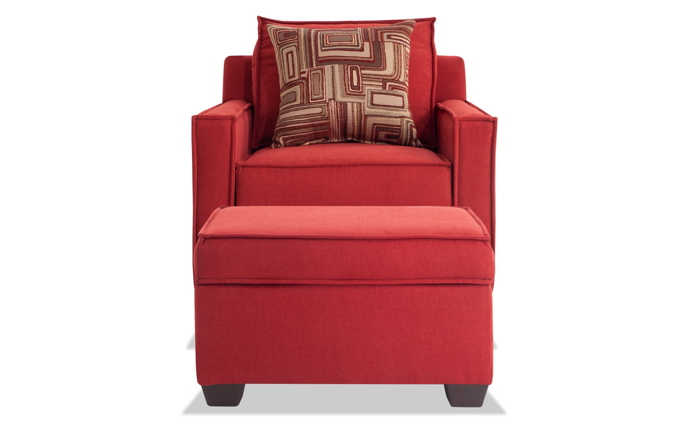 Jessie 80\'\' Gray Sofa, Chair & Storage Ottoman