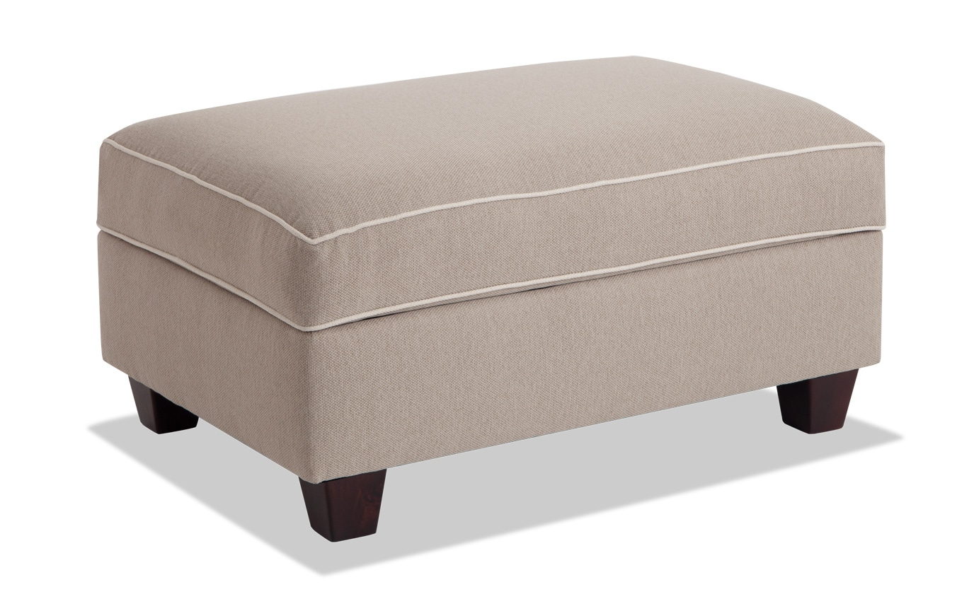 Swell Ashton Khaki Storage Ottoman Gmtry Best Dining Table And Chair Ideas Images Gmtryco