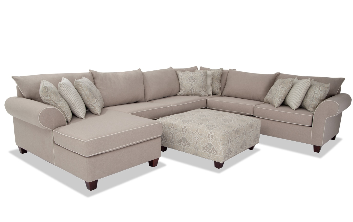Terrific Ashton Khaki 5 Piece Right Arm Facing Sectional Caraccident5 Cool Chair Designs And Ideas Caraccident5Info