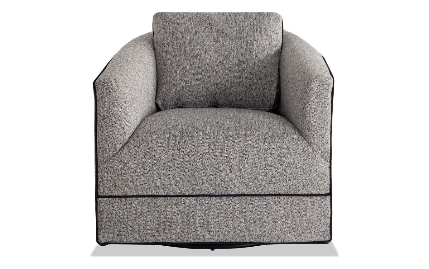 Phenomenal Bowery Gray Swivel Chair Creativecarmelina Interior Chair Design Creativecarmelinacom