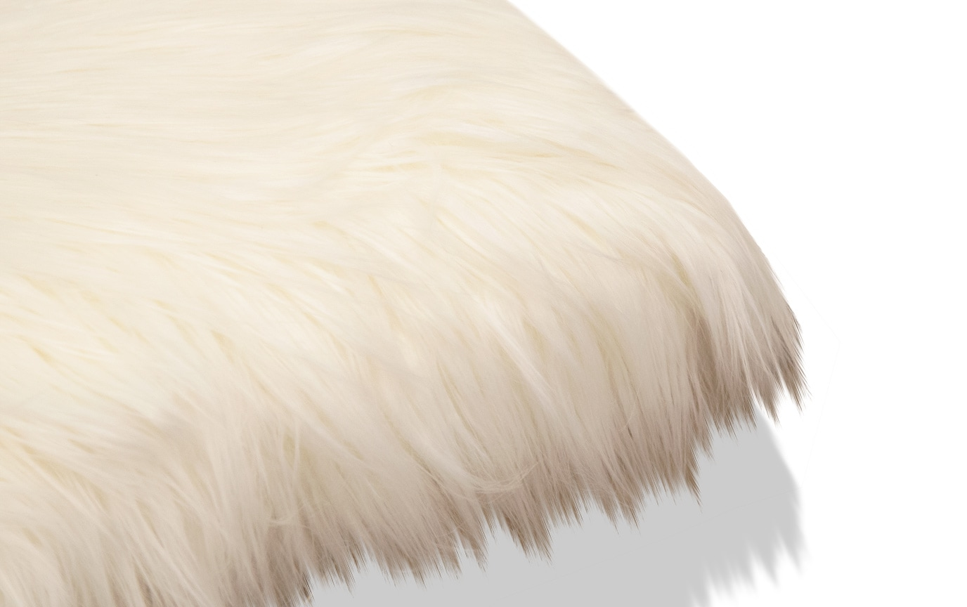 Pleasing Eliza White Faux Fur Bench Squirreltailoven Fun Painted Chair Ideas Images Squirreltailovenorg