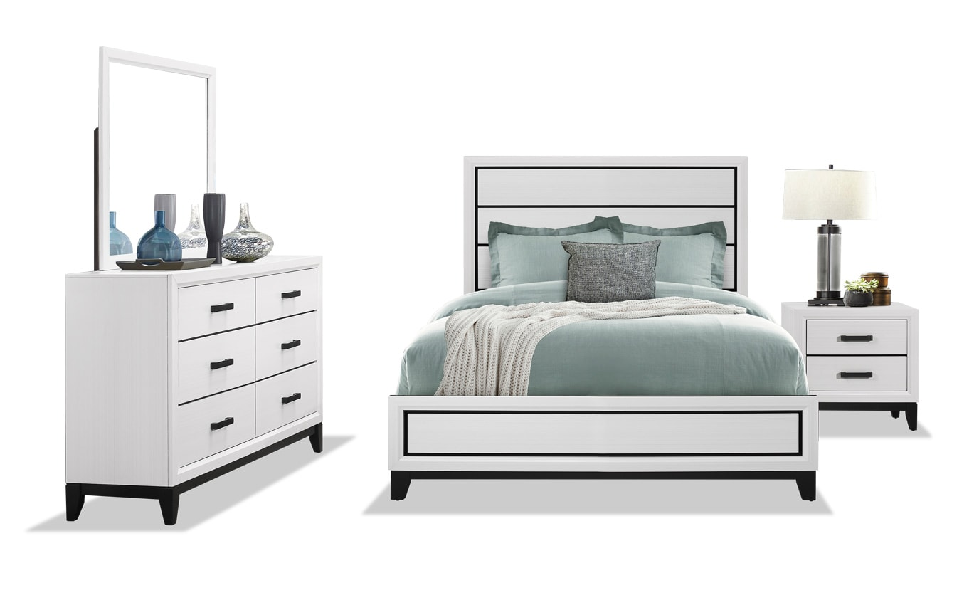 Joss Full White Bedroom Set