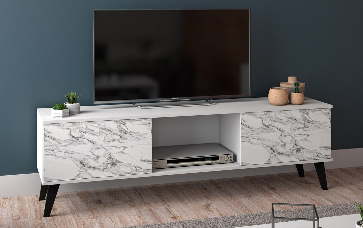 Una Multicolored Tv Stand